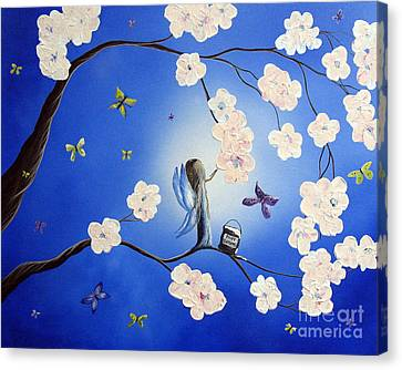 Fairy Blossoms By Shawna Erback Canvas Print by Shawna Erback