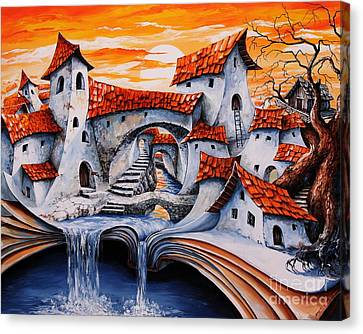 Fairy Tale City - Magic Stream Canvas Print by Emerico Imre Toth
