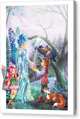 Fairy Wand Canvas Print by Zorina Baldescu