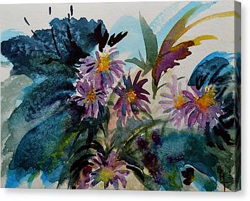 Fairyland Asters Canvas Print by Beverley Harper Tinsley