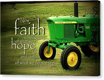 Faith And Hope Canvas Print by Linda Fowler