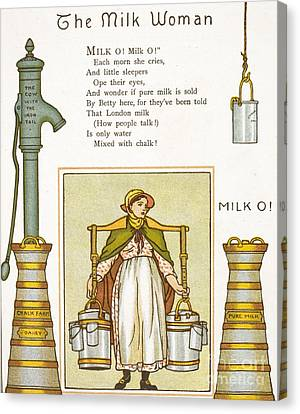 Fake Milk, 1880s Poem Canvas Print by British Library