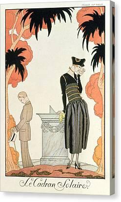 Falbalas Et Fanfreluches Almanach Des Modes Canvas Print by Georges Barbier