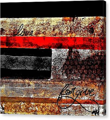 Fall Abstract Canvas Print by Marsha Heiken