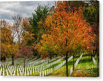 Fall Arlington National Cemetery  Canvas Print by Gary Whitton