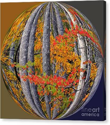Fall Art Nouveau Canvas Print by Scott Cameron