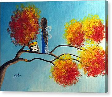 Fall Fairy By Shawna Erback Canvas Print by Shawna Erback