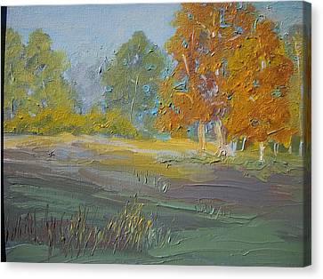 Fall Field Canvas Print by Dwayne Gresham