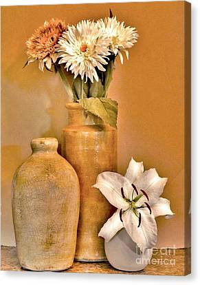 Fall Floral Bouquets Canvas Print by Marsha Heiken