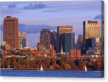 Fall Foliage Colors Across Boston Beacon Hill Canvas Print by Juergen Roth