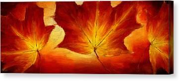 Fall Foliage Canvas Print by Lourry Legarde