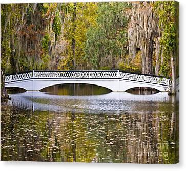 Fall Footbridge Canvas Print by Al Powell Photography USA