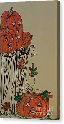 Fall For Pumpkins Canvas Print by Laurrie Lloyd