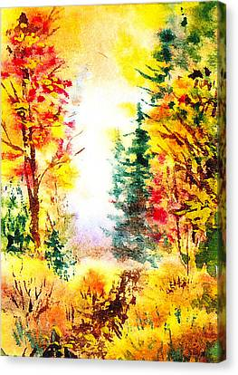 Fall Forest Canvas Print by Irina Sztukowski