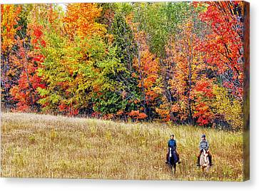 Fall Hack Canvas Print by Peter Lindsay