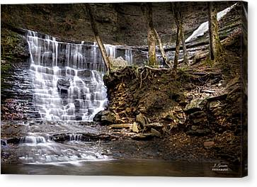 Fall Hollow Falls Natchez Trace Parkway Tennessee Canvas Print by Joe Granita