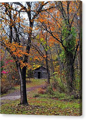 Fall Homestead Canvas Print by Marty Koch
