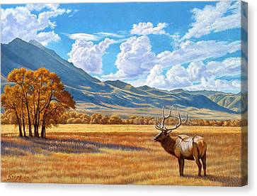 Fall In Paradise Valley Canvas Print by Paul Krapf