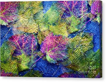 Fall Leave Abstract Canvas Print by Judy Palkimas