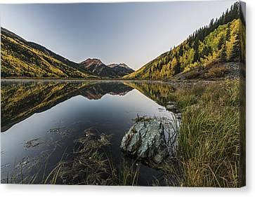 Fall Mirror Canvas Print by Jon Glaser