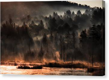 Fall Morning Fog Canvas Print by Jeff Folger