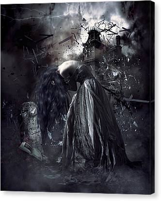 Fall Of The House Of Usher Canvas Print by Shanina Conway