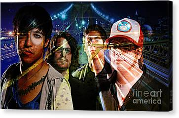 Fall Out Boy Canvas Print by Marvin Blaine
