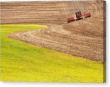 Fall Plowing Canvas Print by Doug Davidson