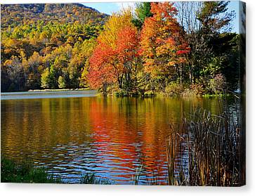 Fall Reflection Canvas Print by Todd Hostetter