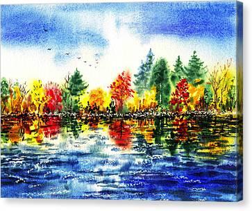 Fall Reflections Canvas Print by Irina Sztukowski