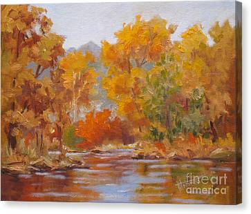 Fall Reflections Canvas Print by Mohamed Hirji