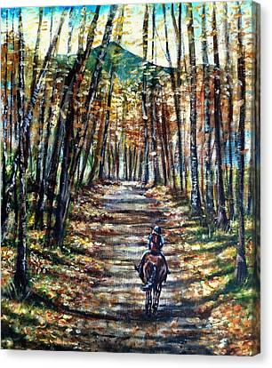 Fall Ride Canvas Print by Shana Rowe Jackson