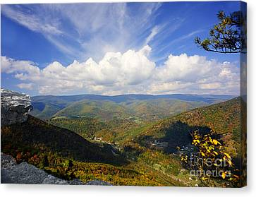 Fall Scene From North Fork Mountain Canvas Print by Dan Friend