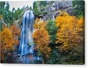 Fall Silver Falls Canvas Print by Robert Bynum