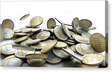 Falling Coins Canvas Print by Allan Swart