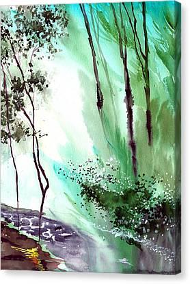 Falling Light Canvas Print by Anil Nene