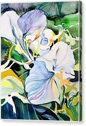Falling Orchids Canvas Print by Mindy Newman