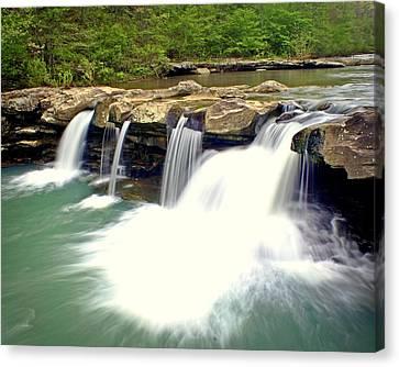 Falling Waters Falls 4 Canvas Print by Marty Koch