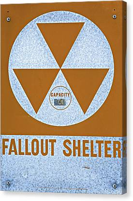 Fallout Shelter Sign Canvas Print by Stephen Stookey