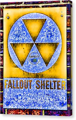 Fallout Shelter Wall 3 Canvas Print by Stephen Stookey