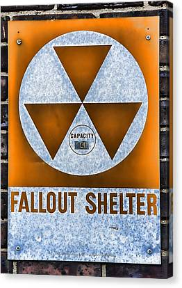 Fallout Shelter Wall 8 Canvas Print by Stephen Stookey