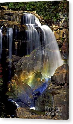 Falls And Rainbow Canvas Print by Paul W Faust -  Impressions of Light