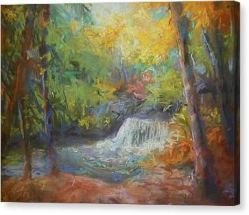 Fall's Fall Canvas Print by Susan Bracken Gilday
