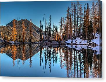 Falls Last Colors Canvas Print by Mike Reid