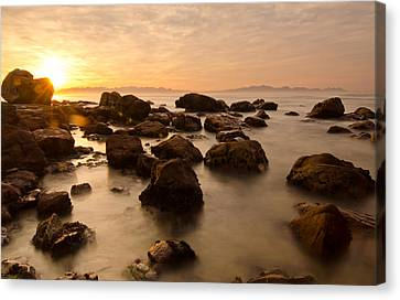 False Bay Sunrise Canvas Print by Aaron S Bedell