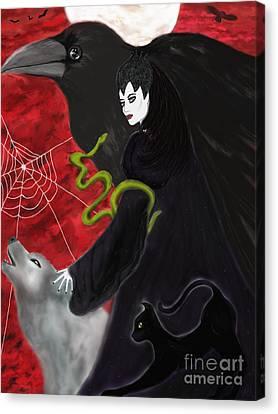 Familiar Spirits Canvas Print by Roxy Riou