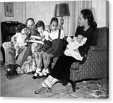 Family Of Charles Drew Canvas Print by National Library Of Medicine