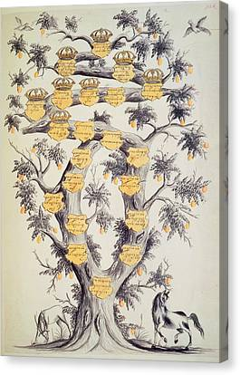 Family Tree Of Javanese Dynasty Canvas Print by British Library