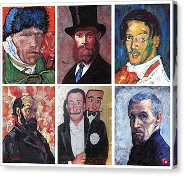 Famous Artist Self Portraits Canvas Print by Tom Roderick