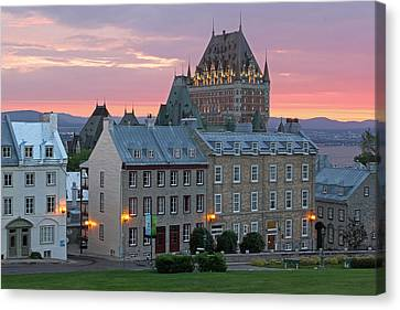 Famous Chateau Frontenac In Quebec City Canvas Print by Juergen Roth